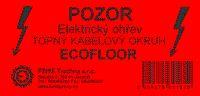 Samolepící výstražný štítek 100x50mm - POZOR Elektrický ohřev