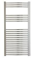 Chromovaný koupelnový radiátor,  400 W,  600 x 1118 mm,  oblý